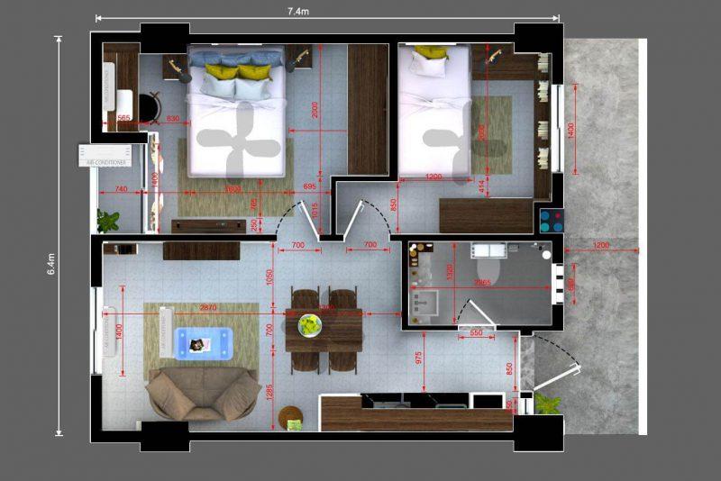 2712 Bedrooms